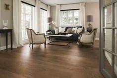 Boen Oak Arizona engineered hardwood flooring has beautiful gray tones and a matte finish for a trendy sophisticated look. Engineered Hardwood Flooring, Hardwood Floors, Grey Laminate, Floating Floor, Classic Elegance, Elegant, Plank, Decor Styles, Flats