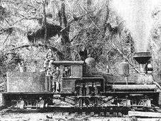 A typical medium-sized 3-cylinder Shay, dating from about 1900.