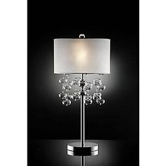 OK Lighting 32'' H Table Lamp with Drum Shade