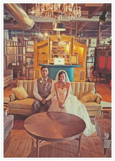 Warehouse Venue Salvage One, already staged with great antiques and vintage furniture finds.