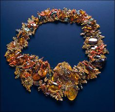 Amber necklace by Marcy Stone