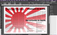 c. Print screen of Page 2 & 3 in InDesign
