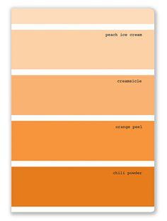Rock Scissor Paper Color Swatch Lauren Orange