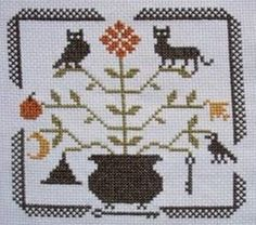 You must sign up as a member of Listia but there are lots of free goodies available (over 100,000 according to the blurb!). Image is of Primitive Autumn Cross Stitch Pattern