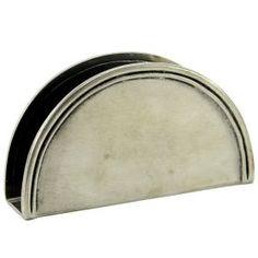 Napkin holder Halfcicle Napkin holder of pewter made by hand. #artigianato #madeinitaly #peltro #pewter