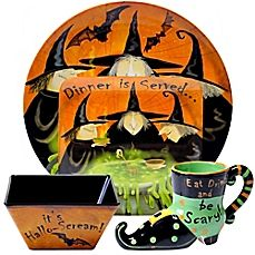 image of Certified International Eat, Drink and Be Scary Dinnerware