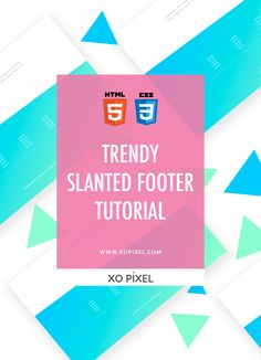 Hey, Pixels! In this week's coding tutorial, I'll be showing you how to code a trendy slanted footer. Slanted lines are a great addition to any website layout. They're also a nice way to break free from the norm of straight lines in web design.