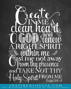 Bible Study # 23 - Create in Me a Clean Heart - Minister ...