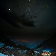 Orion the Hunter is one of the most noticeable constellations, as seen from around the world.  Here's a shot taken in the Himalayas.
