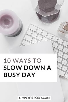 Do you ever feel like time is getting away from you? When you're stressed, overwhelmed and no matter what you do--you can't get caught up? If so, then here are 10 simple and practical ways to slow down a busy day, so you can feel more calm and at ease in your everyday life. #simpleliving Slow Living, Mindful Living, Act Help, Help Me, Live For Yourself, Finding Yourself, I Feel Overwhelmed, Declutter Your Life