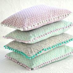 Pom pom trim cushion tutorial by Torie Jayne