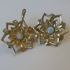 Lotus Weights in brass and mother of pearl inlay