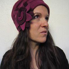 Bonnet polaire femme toflow rose violine et prune