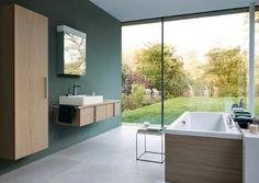 Grüntöne wirken entspannend Die Wandfarbe entspricht der SCHÖNER WOHNEN-Farbe 01.032.05: www.schoener-wohnen-farbe.com