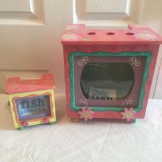 Adorable-TV-Stand-Fish-Tanks-Set-w-Glitter