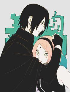 Sasuke and Sakura Anime Naruto, Naruto Art, Naruto And Sasuke, Naruto Uzumaki, Naruto Couples, Cute Anime Couples, Naruhina, Sasuke Sakura Sarada, Naruto Team 7