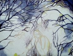 """Calm baby, calm"",Biophilia concept, part of exhib. 2013. oil on canvas by Maja Milkic, via Behance"