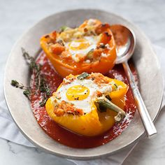 """Stuffed Pepper Baked Eggs « Go Bold with Butter 