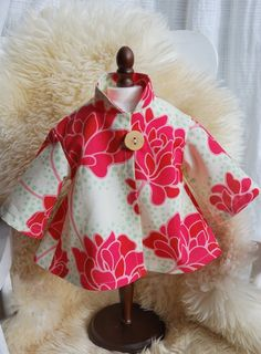 Peonies In Bloom Swing Coat -- RESERVED