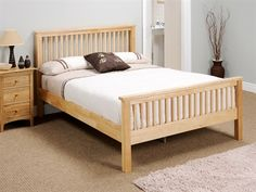 """Snuggle Beds Aladdin in Natural 4' 6"""" Double Wooden Bed"""