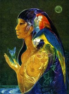 Susan Seddon Boulet « Uarahiulu » - 1979 Uarahiulu, déesse créatrice amérindienne (pareci, Brésil)