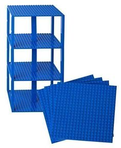 "Premium Blue Stackable Base Plates - 4 Pack 6"" x 6"" Baseplate Bundle with 30 Blue Bonus Building Bricks (LEGO Compatible) - Tower Construction Strictly Briks http://www.amazon.com/dp/B013X2ZCU4/ref=cm_sw_r_pi_dp_U5Xbwb0ZRE5PQ"