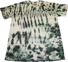 Steezy Green & Black TieDye Tee medium by SteezyWorkz on Etsy, $16.00