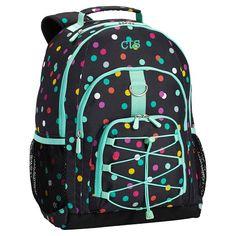 Gear-Up Black Confetti Dot Backpack   PBteen