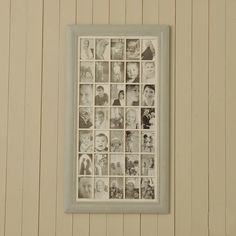 Gorgeous wooden french grey multi frame to hold a lifetime of memories.Holding a whopping 35 pictures, this is a truly beautiful gift for any wedding, special occasion, birthday or new baby. Pop in all your favourite photos and remind yourself of fun times. This would be a great statement piece for any wall in the house and something that can change with the family. Made from wood and painted in a distressed french grey finish All our multi frames are made from real wood and as such they do…