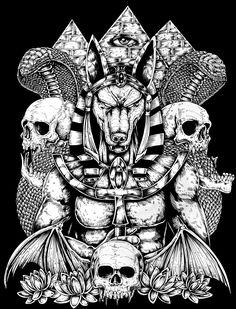 Anubis Back Tattoo on Behance