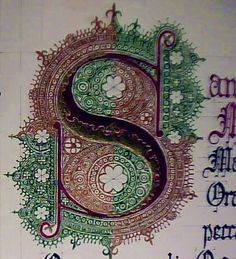 "Capital ""S"" for Ave Maria piece."