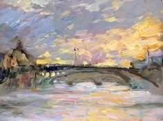 Bridge, Paris  Artist Peter Bezrukov