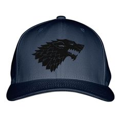 Game Of Thrones Wolf Embroidered Baseball Cap