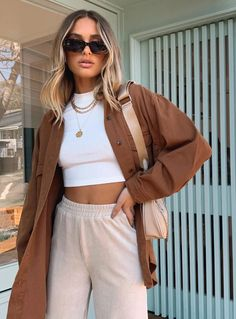 Mode Outfits, Fall Outfits, Spring Fashion Outfits, Estilo Cool, Brown Outfit, Cute Casual Outfits, Look Cool, Look Fashion, Trendy Fashion