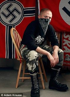 The neo-Nazis of Brooklyn: Rare glimpse inside the world of the right-wingers peddling hate in one of New York's trendiest boroughs    Read more: http://www.dailymail.co.uk/news/article-2107855/Photographer-offers-rare-look-largely-unknown-life-Brooklyns-neo-Nazis.html#ixzz1nnxZIosl