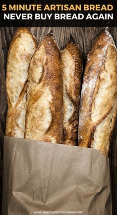 5 Minute Artisan Bread – Never Buy Bread Again - Cooking - Breads and Crackers - Bread Recipes Pain Artisanal, Bolo Youtube, Best Bread Recipe, Crusty Bread Recipe Quick, Bread In A Bag Recipe, Easy French Bread Recipe, Think Food, Cooking Recipes, Healthy Recipes