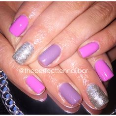 Pink, lilac, glitter, gel polish, pink gellac nails
