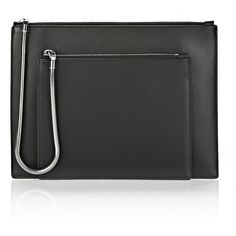 Alexander Wang Clutch ($255) ❤ liked on Polyvore featuring bags, handbags, clutches, black, alexander wang, black zip pouch, alexander wang handbags, black handbags and alexander wang purse