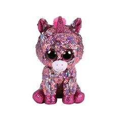Sparkle The Pink Unicorn Flippable Regular is part of the Flippable Beanie  Boos collection from Ty. Flippables are plush animals covered with sequins  and ... 1643a42aab2a