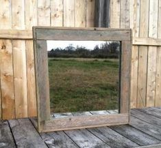 Rustic Decor   Reclaimed Wood Mirror  Man by CountryByTheBumpkins