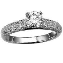 18k Diamond Engagement Ring Mounting from Borsheims.