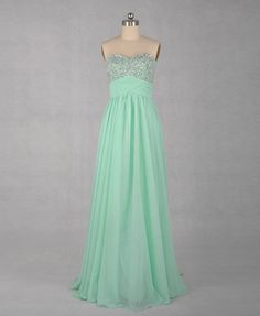 Fashionable Desing Sweetheart Neckline Floor Length Chiffon Prom Dress with Bead Work Bridesmaid Dresses Prom Dresses - Long Cihffon Dresses. $86.00, via Etsy.