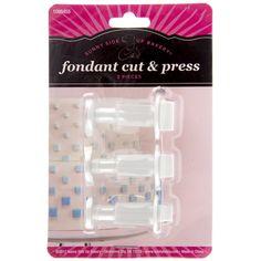 Square Fondant Cut & Press Set