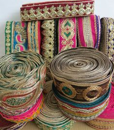 Fancy Diamante Beaded Indian Lace Trim Ethnic Ribbon Craft Sari Border 1 Meter | eBay! India Decor, Bohemian Fabric, Antique Jewellery Designs, Afghan Clothes, Opening A Boutique, Indian Textiles, Passementerie, Boho Bags, Sewing Material