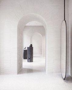 Arches, brickwork + terrazzo.  Basically heavenly design trifecta.  Not to…