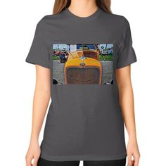 1932 Ford Roadster Hotrod Unisex T-Shirt (on woman)