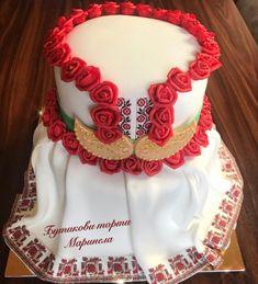 Bulgarian Folk Costume - cake by marinelacakes Elegant Birthday Cakes, 18th Birthday Cake, Gorgeous Cakes, Amazing Cakes, Cake Art, Art Cakes, Handmade Cosmetics, Gala Dinner, Folk Fashion