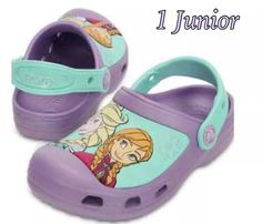a578412bb ⭐NEW⭐CROCS Creative Disney Frozen Elsa   Anna Light Purple Clog Size  1  Junior. Toddler CrocsClogs OutfitCrocs ShoesBaby ...