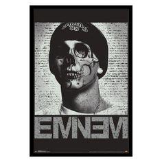 Trends International Eminem Skull Framed Wall Poster - FR14740BLK22X34
