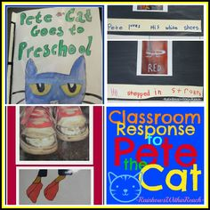 Pete the Cat: Response to Picture Books RoundUP of ideas: class book, computer lessons, invented spelling adaptations!